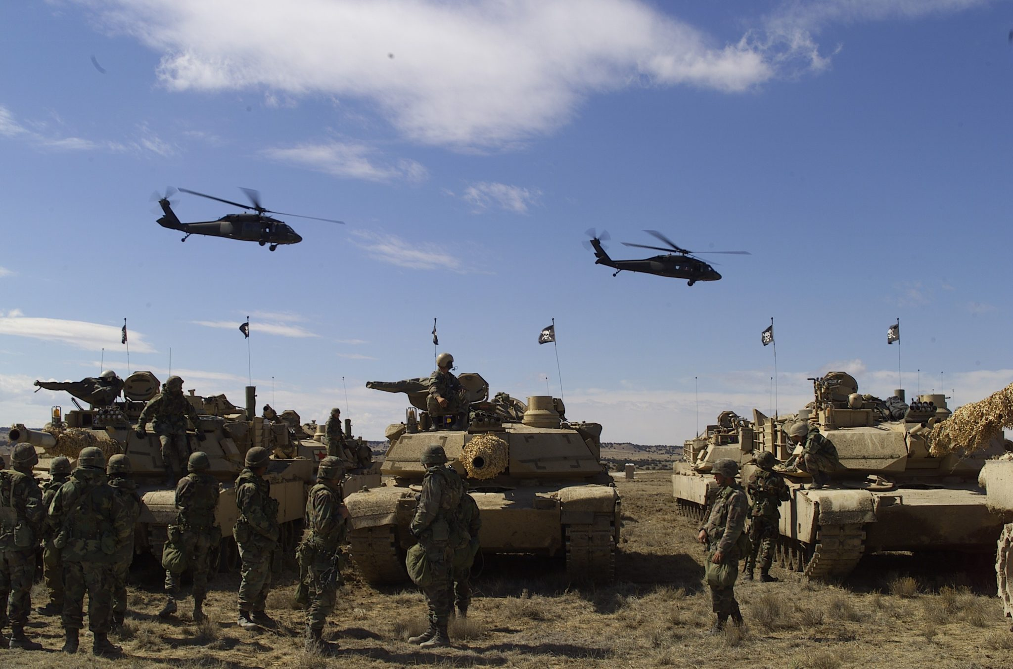 Ft. Carson soldiers conducting training exercises.