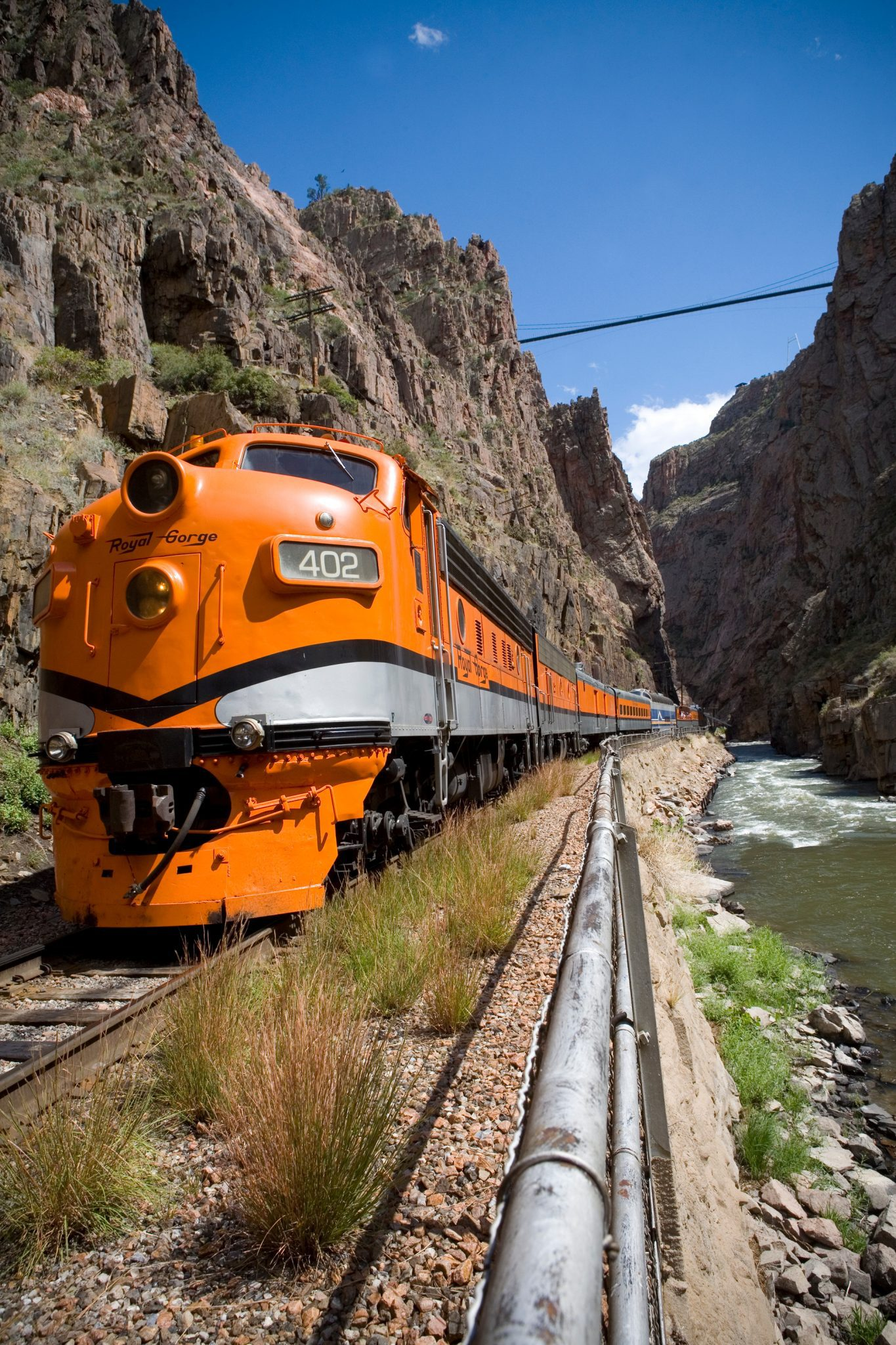 The Royal Gorge Route Railroad takes you on a beautiful journey along the Arkansas River