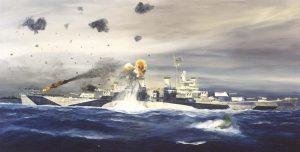 USS Canberra Torpedo Attack