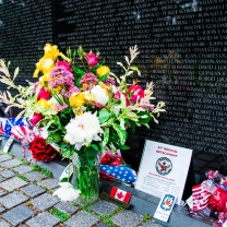 Vietnam Veterans Memorial on Memorial Day, USA