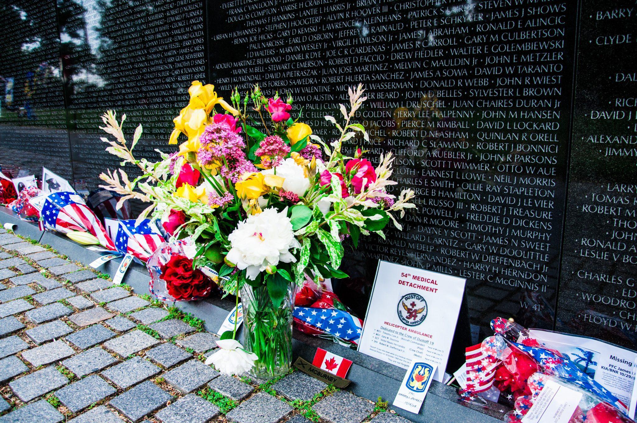 Vietnam Veterans Memorial on Memorial Day, USA