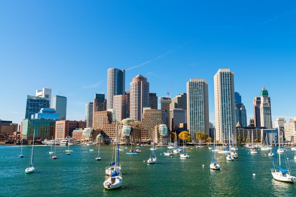 Boston, Massachusetts. Beautiful city skyline.