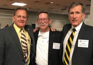 Alan Sans, center, with John Mick & TJ Kelly at 3/3 RVN reunion
